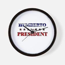 HUMBERTO for president Wall Clock