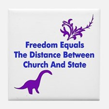 Separation of Church and Stat Tile Coaster