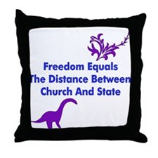 Separation of Church and Stat Throw Pillow