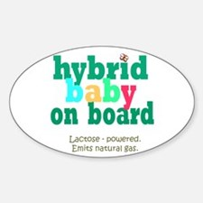 Hybrid Baby on Board Oval Decal