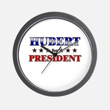 HUBERT for president Wall Clock