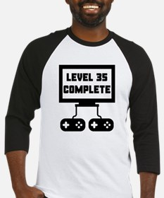 Level 35 Complete 35th Birthday Baseball Jersey
