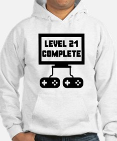 Level 21 Complete 21st Birthday Hoodie