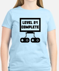 Level 21 Complete 21st Birthday T-Shirt