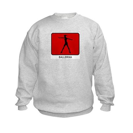 Ballerina (red) Kids Sweatshirt
