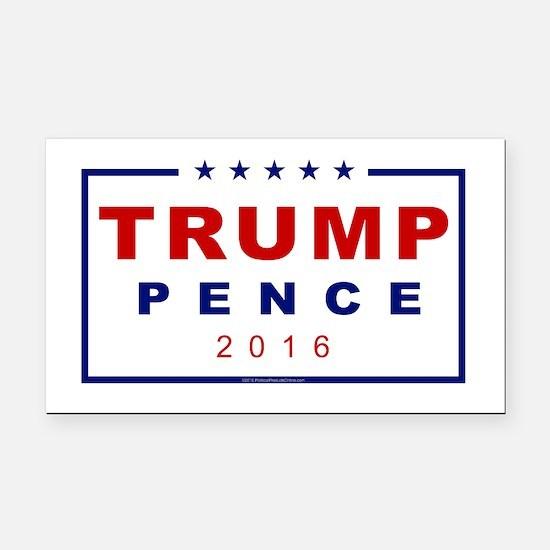 Modern Trump Pence 2016 Rectangle Car Magnet