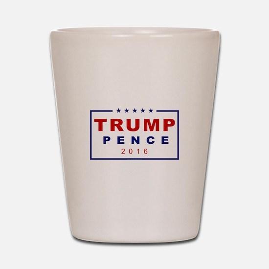 Modern Trump Pence 2016 Shot Glass