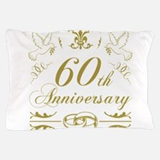 60th Wedding Anniversary Pillow Case