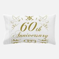 60th Wedding Anniversary Pillow Case