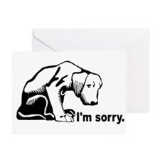 I'm sorry puppy Greeting Cards (Pk of 10)