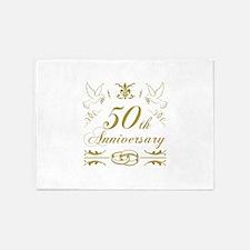50th Wedding Anniversary 5'x7'Area Rug