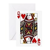 Queen of hearts Greeting Cards (20 Pack)