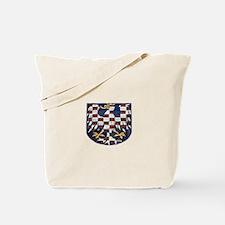 Funny White lion Tote Bag