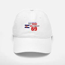 Vote Yes on 69 Baseball Baseball Baseball Cap