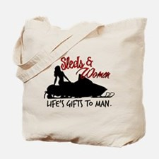 Sleds & Women Tote Bag