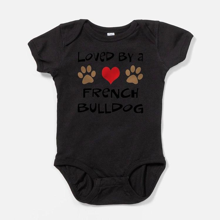 Cute French bull dog Baby Bodysuit