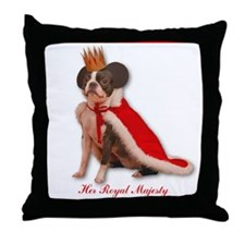 Her Royal Majesty Throw Pillow
