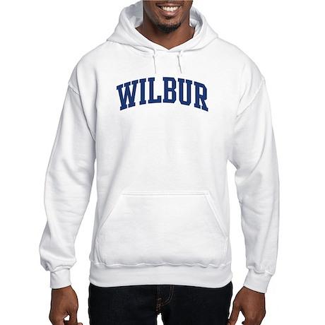 WILBUR design (blue) Hooded Sweatshirt