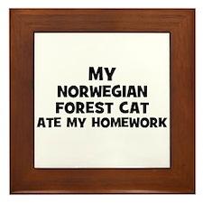 My Norwegian Forest Cat Ate M Framed Tile