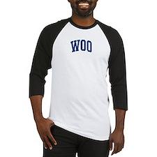 WOO design (blue) Baseball Jersey