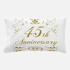 45th Wedding Anniversary Pillow Case