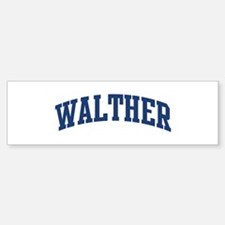 WALTHER design (blue) Bumper Bumper Bumper Sticker