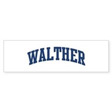 WALTHER design (blue) Bumper Bumper Sticker