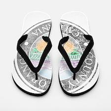 Faded Orange County Flip Flops