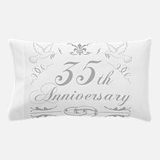 35th Wedding Anniversary Pillow Case
