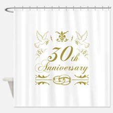 30th Wedding Anniversary Shower Curtain