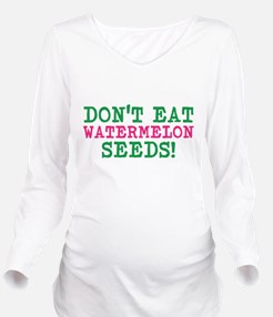 WATERMELON SEEDS Long Sleeve Maternity T-Shirt
