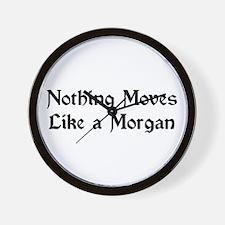 Moves Like A Morgan Wall Clock