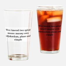 Teacher Drinking Glass