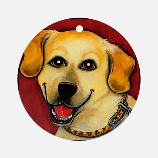Yellow Lab Ornament (Round)
