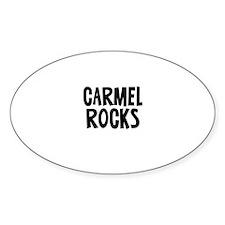 Carmel Rocks Oval Decal