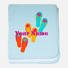 Personalized Flip Flops baby blanket