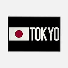 Japan: Japanese Flag & Tokyo Rectangle Magnet