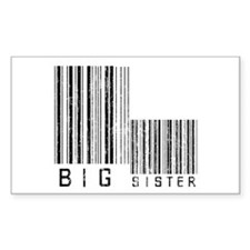 Big Sister Barcode Rectangle Decal