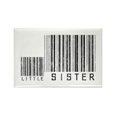 Little Sister Barcode Rectangle Magnet (10 pack)