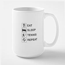 EAT, SLEEP, TENNIS, REPEAT Mugs