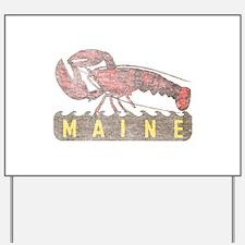 Vintage Maine Lobster Yard Sign