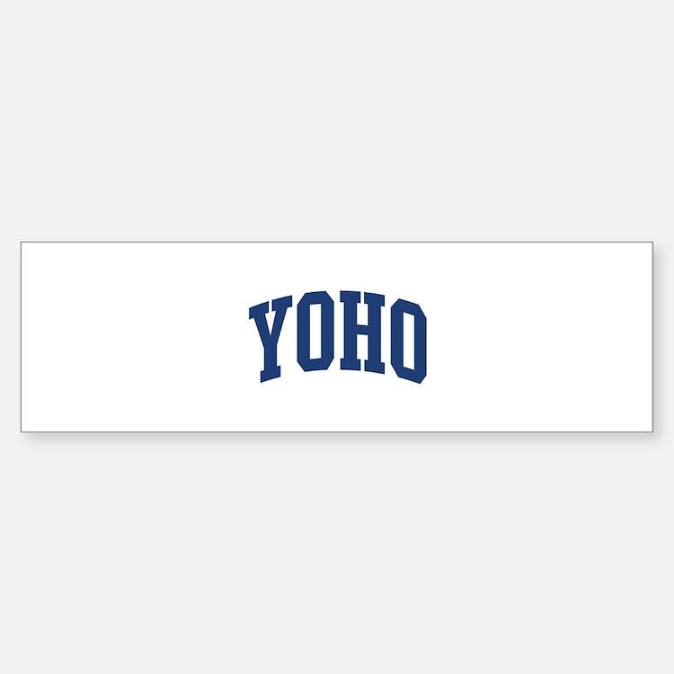 YOHO design (blue) Bumper Bumper Bumper Sticker