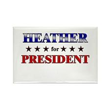 HEATHER for president Rectangle Magnet (10 pack)