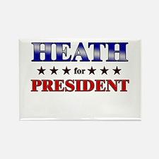 HEATH for president Rectangle Magnet