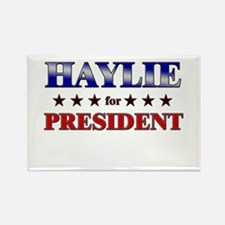 HAYLIE for president Rectangle Magnet