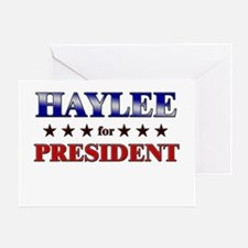 HAYLEE for president Greeting Card