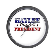 HAYLEE for president Wall Clock