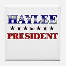 HAYLEE for president Tile Coaster