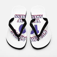 Celebrating 100 Years Flip Flops