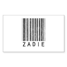 Zadie Barcode Rectangle Decal